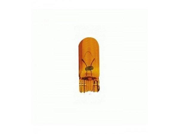 Lamp 5W oranje fittingloos (W2,1x9,5d)   (prijs is voor 10 lampen)