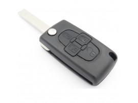 Behuizing 4 knops voor diverse Peugeot modellen  (batterijhouder in behuizing)